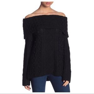 NWT Love Token Off The Shoulder Knit Sweater